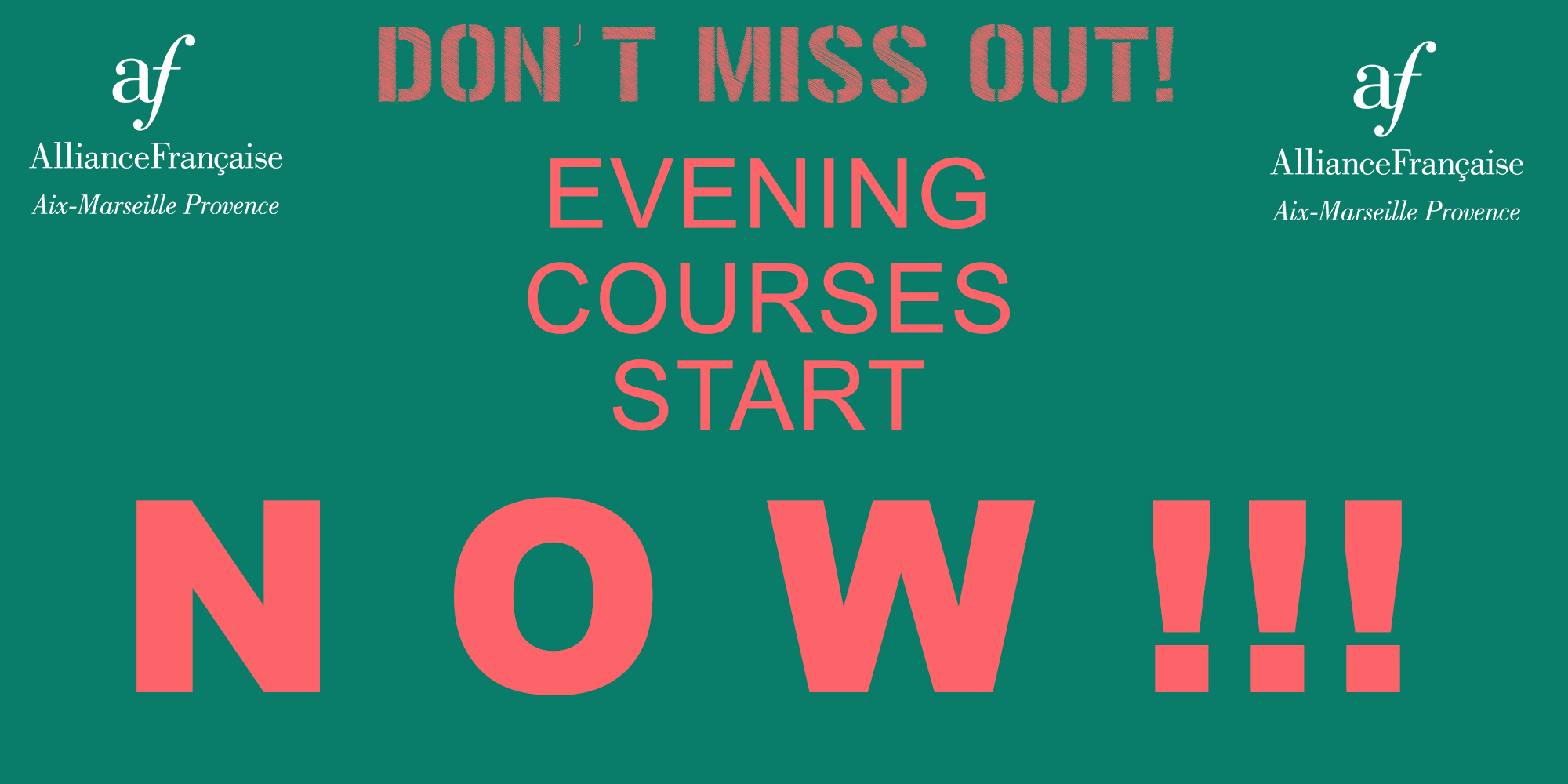 Evening courses started from Tuesday September 18th !